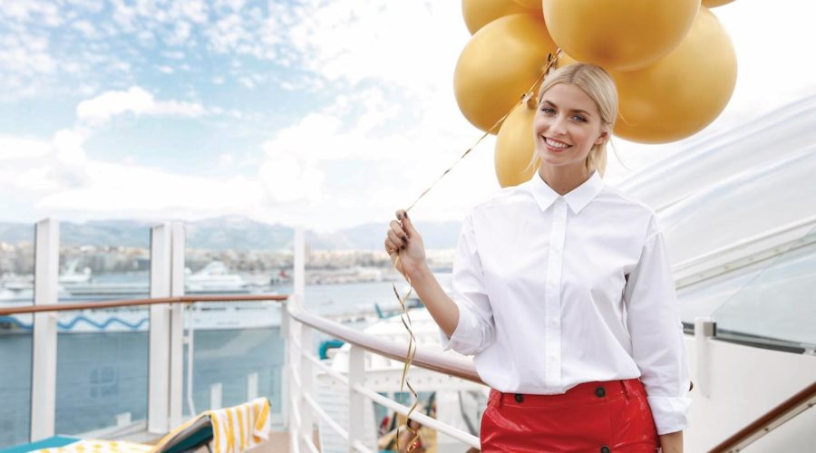 Lena Gercke Christening Ceremony AIDAperla Cruise Ship