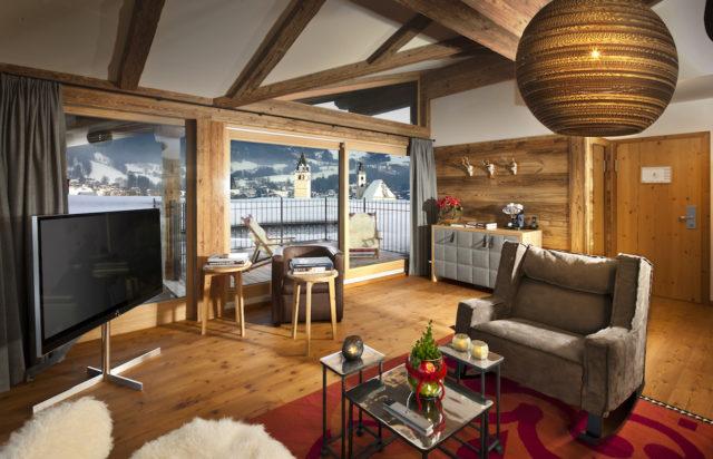 Hotel Kitzhof Alpin Suite Ausblick