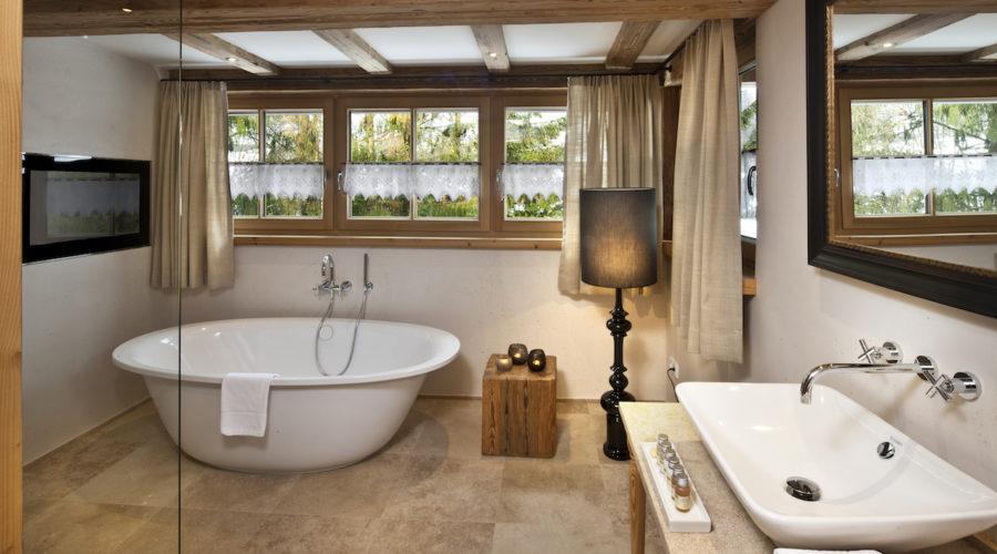 Hotel Kitzhof Alpin Suite Badezimmer