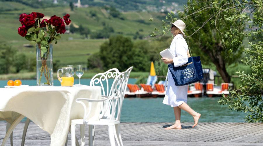 Sonnenbaden Am Seeufer Des Kalterer Sees Parc Hotel Am See
