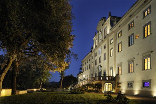 Florence Italy Villa Le Maschere NIGHTLIGHT FACADE Luxury