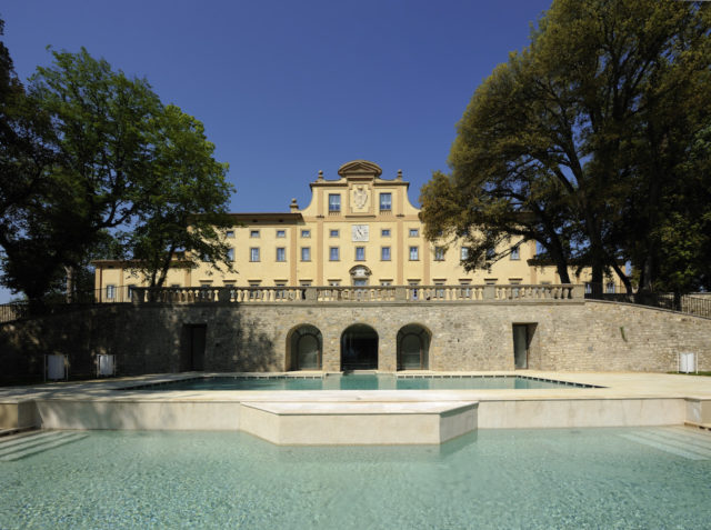 Florence Italy Villa Le Maschere POOLS FACADE 2