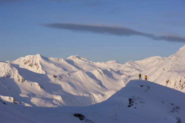 Skitour Zur Grübelspitze, Tuxer Alpen, Tirol, Österreich.
