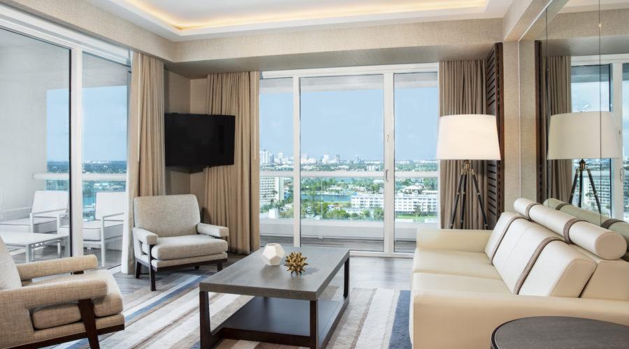 Living Room (2) Conrad Fort Lauderdale Beach