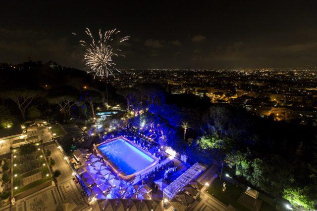 Fireworks At Waldorf Astoria Rome Copyright Waldorf Astoria Hotels And Resorts