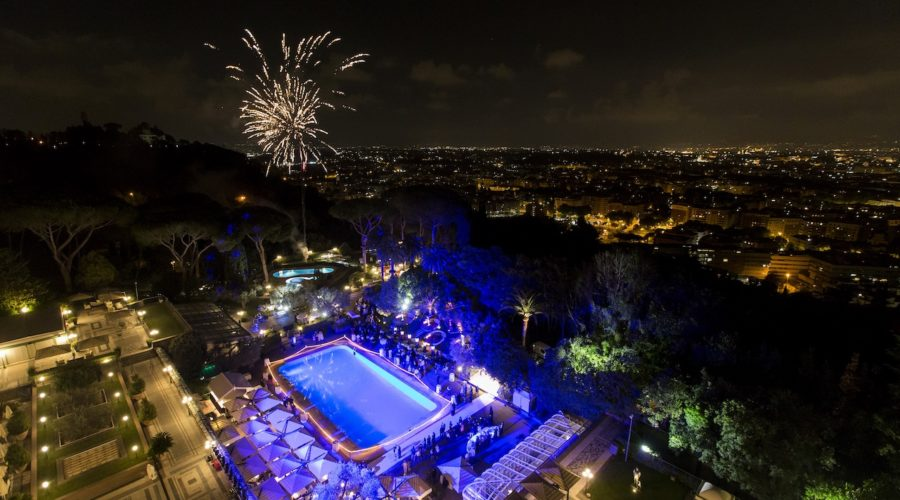 Fireworks At Waldorf Astoria Rome Copyright Waldorf Astoria Hotels And Resorts