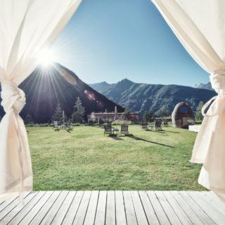 Gradonna Resort Ausblick Vorhänge