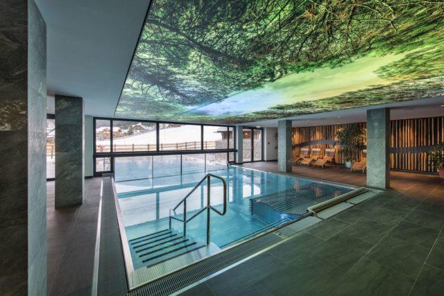 Indoor Outdoor Infinity Pool C Alm.gut Gmbh Co Kg Almgut