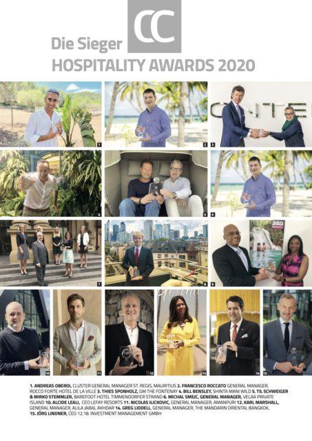 Die Connoisseur Circle Hospitality Awards 2020: 15 Pokale reisen um die Welt!