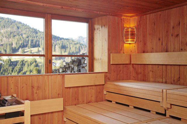 Blick Von Der Sauna Auf Die Berge C Tobias Burger Bio Hotel Oswalda Hus Kleinwalsertal Hotels 0