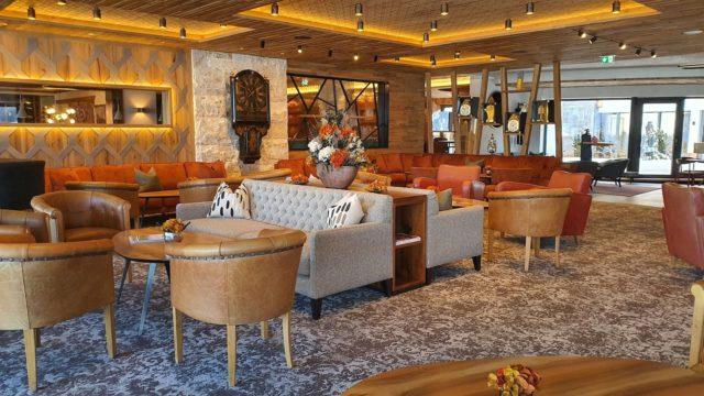 Einladende Lounge Fuer Eine Gemuetliche Auszeit Hotel Bergblick