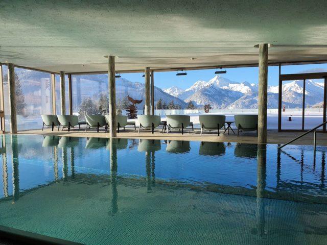 Indoorpool Mit Traumhaftem Ausblick Hotel Bergblick