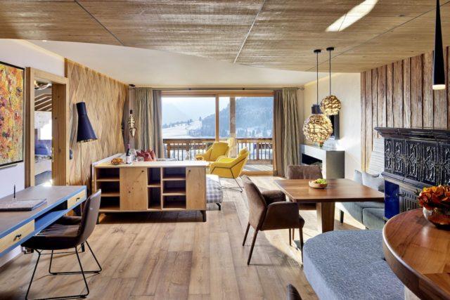 Moderne Deluxesuite Hotel Bergblick