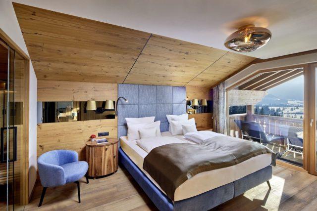 Wunderschoenes Schlafzimmer Der Deluxesuite Hotel Bergblick