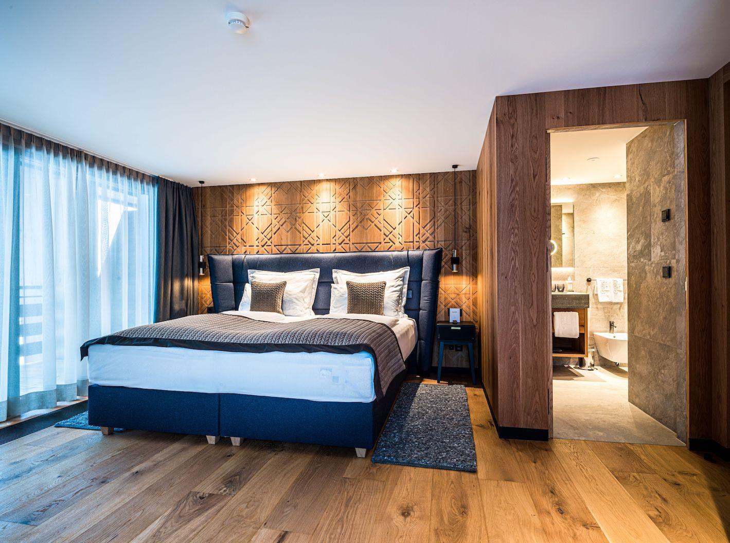 Moderner Schlafbereich Der Dolomites Suite C Dejori Werner Hotel Granbaita Dolomites