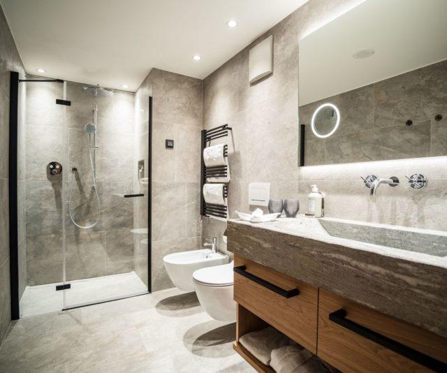 Modernes Badezimmer C Dejori Werner Hotel Granbaita Dolomites
