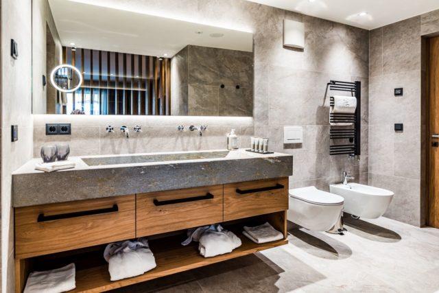 Stilsicheres Badezimmer In Der Junior Suite C Dejori Werner Hotel Granbaita Dolomites