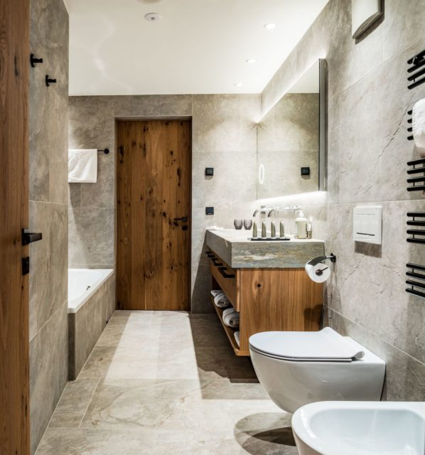 Wunderschoenes Badezimmer Der Junior Suite C Dejori Werner Hotel Granbaita Dolomites